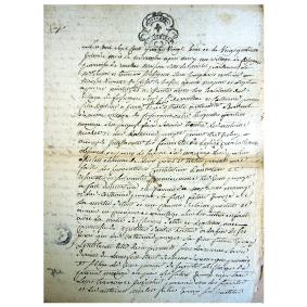 Contrat de mariage en 1788